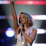 Australian actress and singer Kylie Minogue performs during the final round of the 2011 Elite Models Look contest in Shanghai